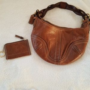 Coach pebbled leather purse and wallet